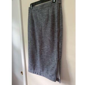 Gray Halogen Pencil Skirt with zipper